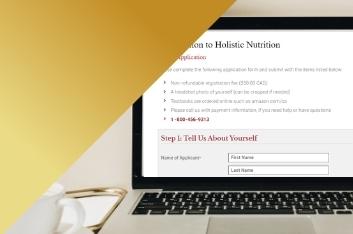 computer laptop for enrollment application into Edison Institute